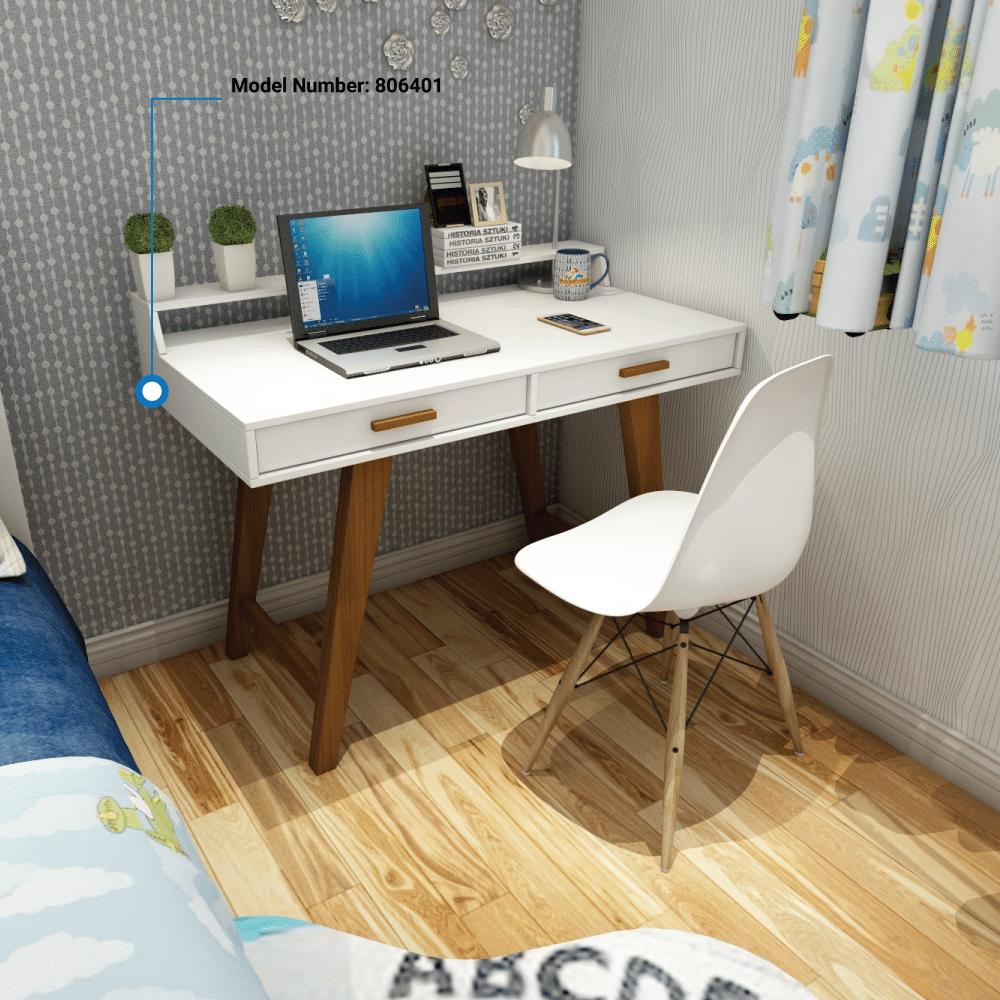Two Drawer White Desk 806401