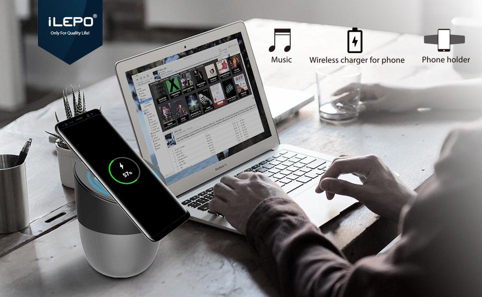 Waterproof Bluetooth Speaker- iLEPO IP66 Portable Wireless Speaker amonet